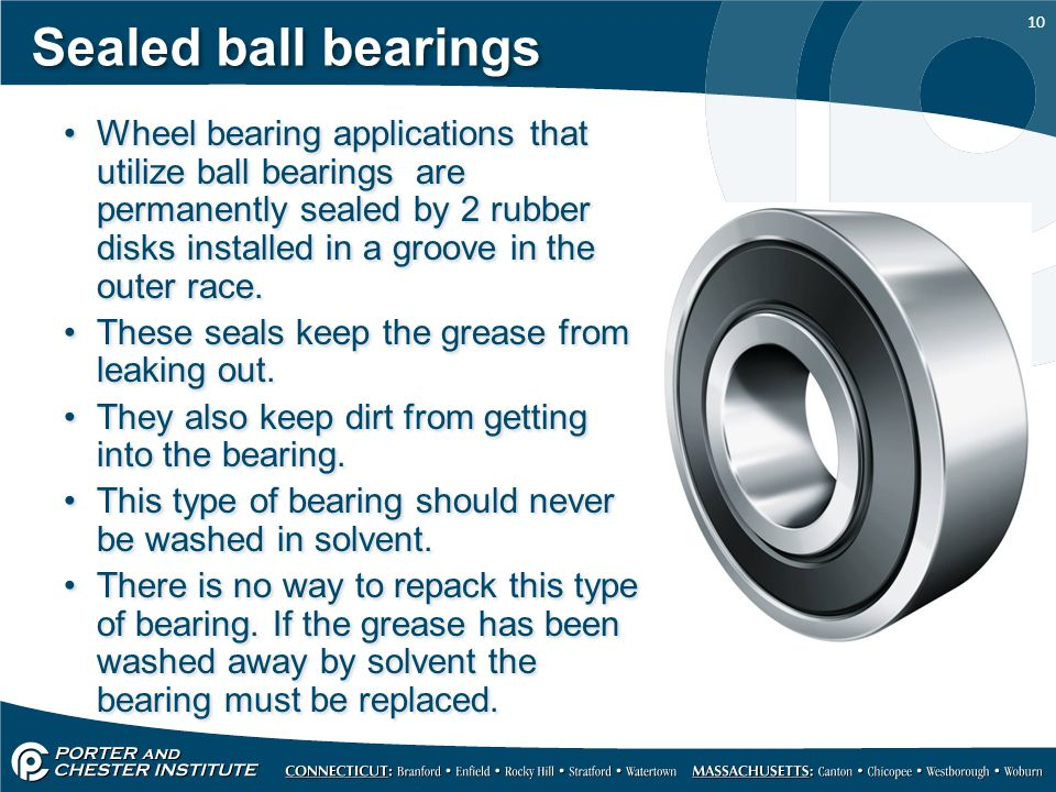 Sealed ball bearings