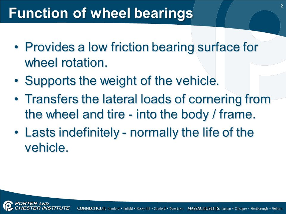 Function of wheel bearings