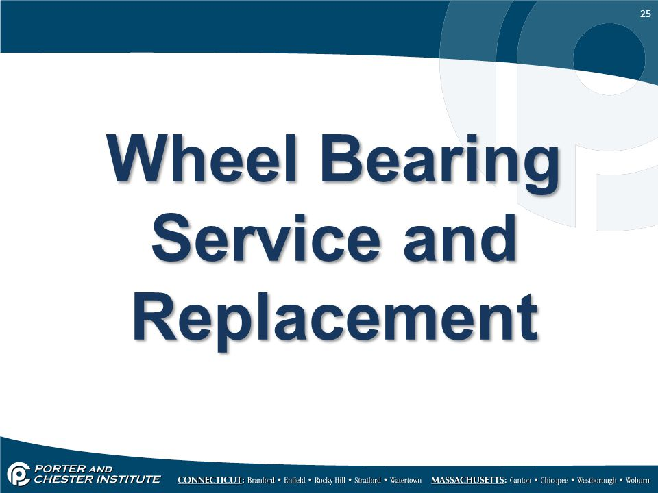Wheel Bearing Service and Replacement