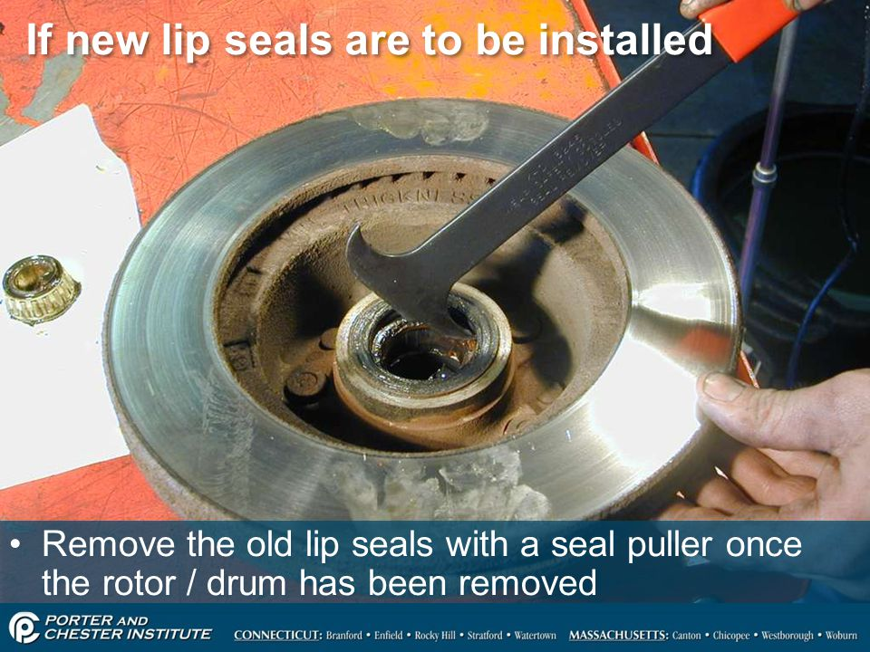 If new lip seals are to be installed