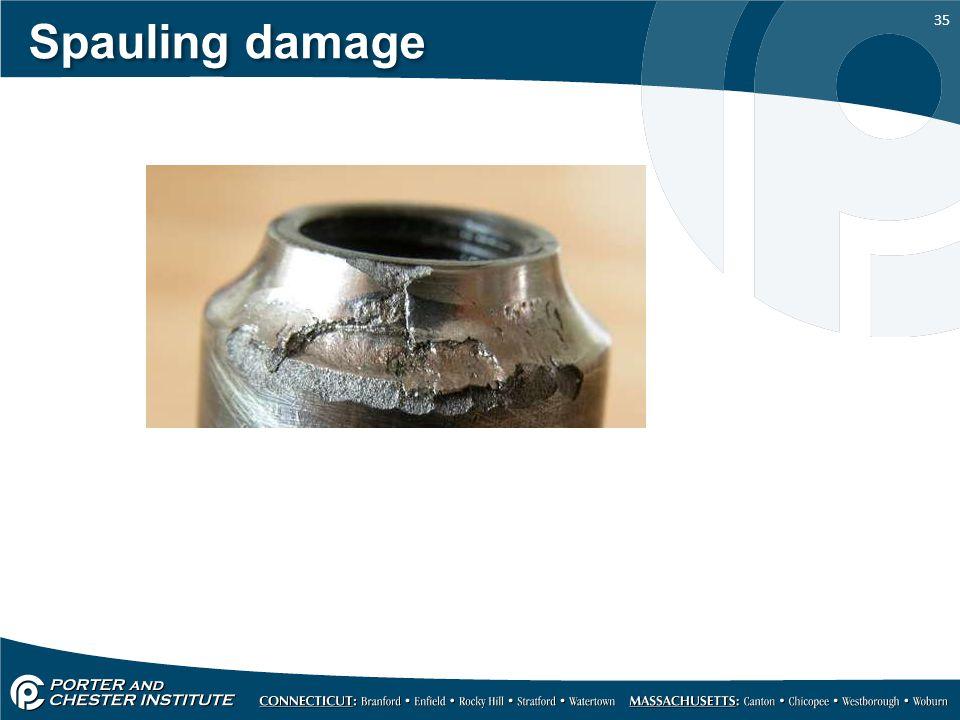 Spauling damage