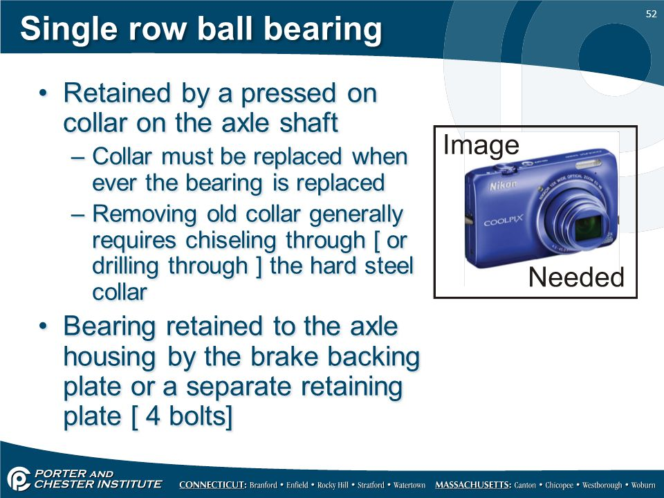 Single row ball bearing