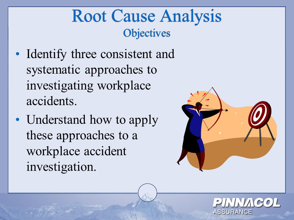 Root Cause Analysis Objectives