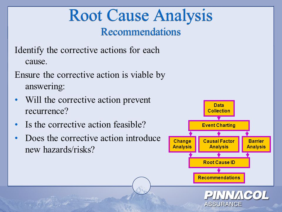 Root Cause Analysis Recommendations
