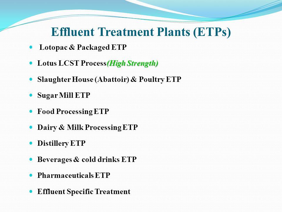 Effluent Treatment Plants (ETPs)