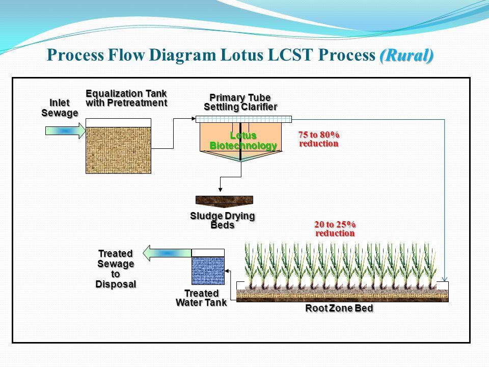 Process Flow Diagram Lotus LCST Process (Rural)