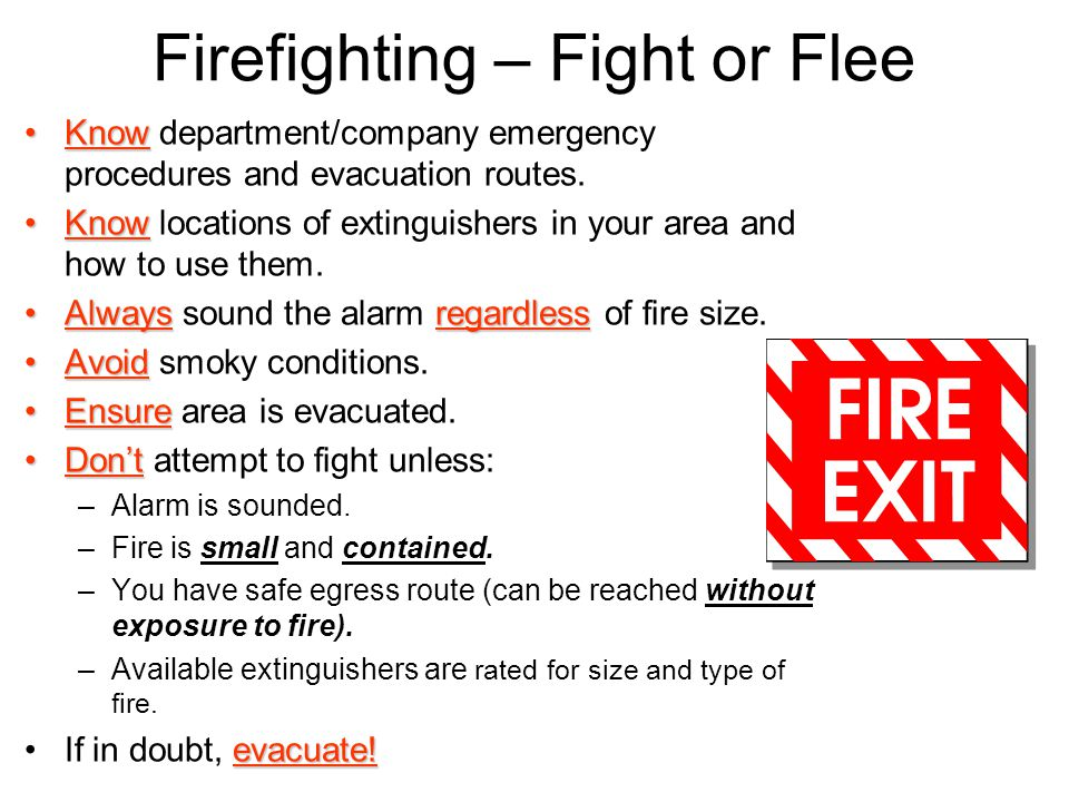 Firefighting – Fight or Flee