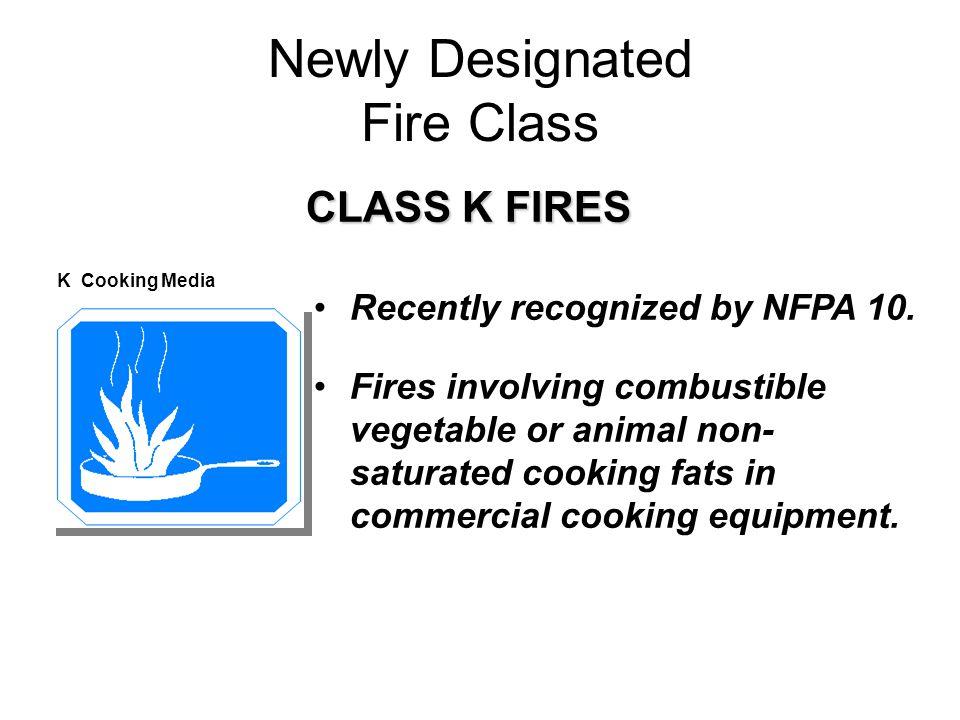 Newly Designated Fire Class