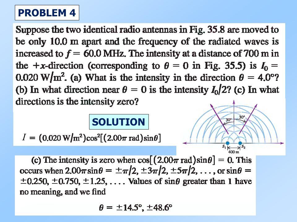 PROBLEM 4 I SOLUTION