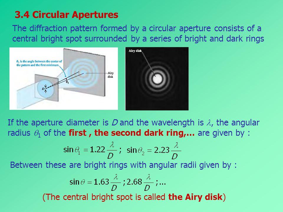 3.4 Circular Apertures