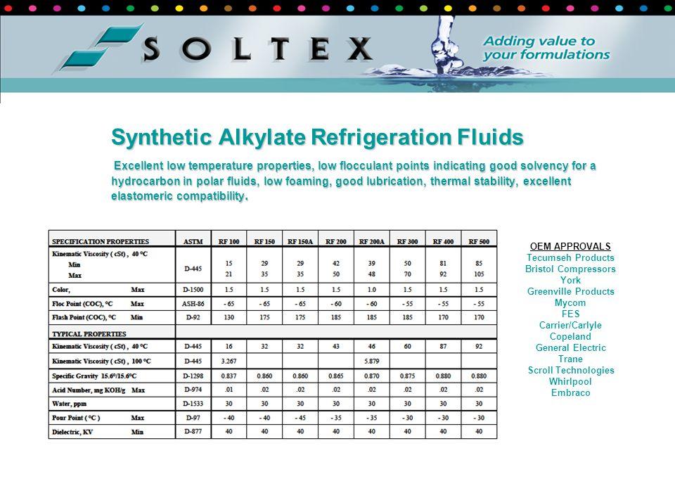 Synthetic Alkylate Refrigeration Fluids