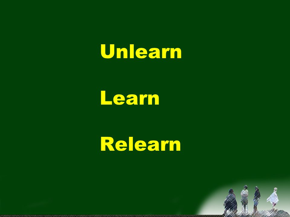 Unlearn Learn Relearn