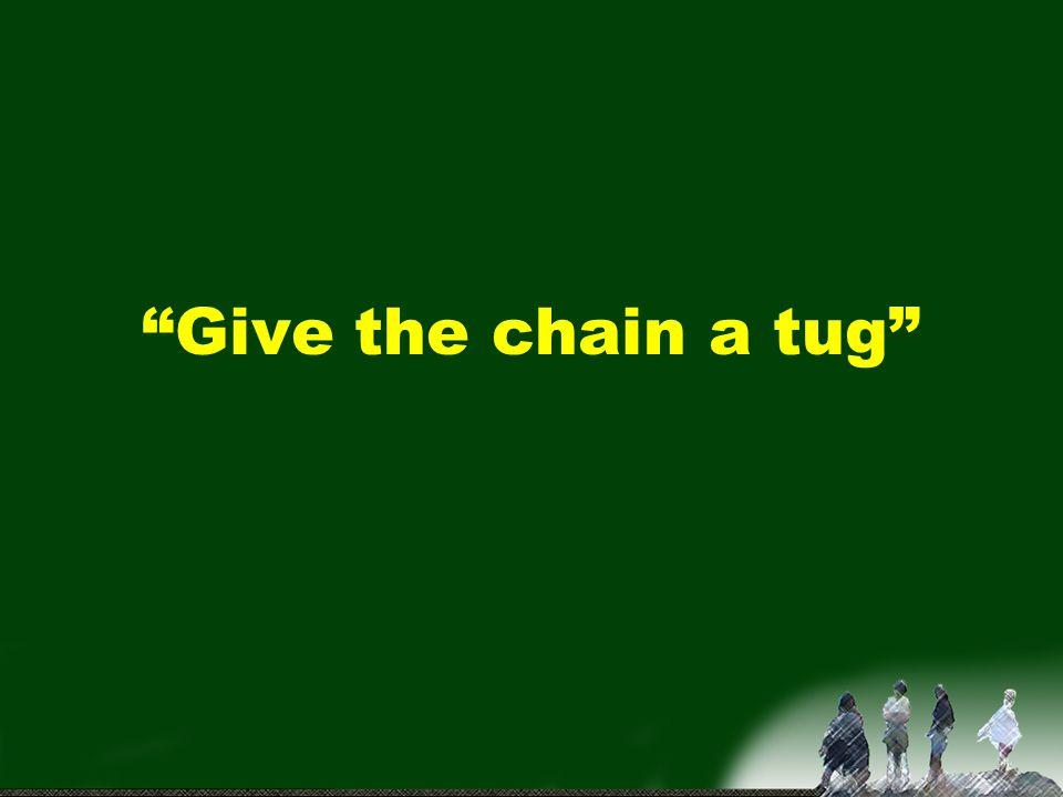 Give the chain a tug