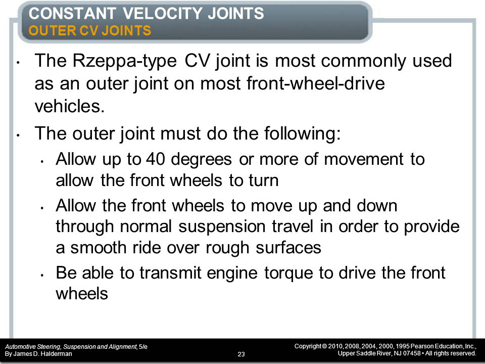 CONSTANT VELOCITY JOINTS OUTER CV JOINTS
