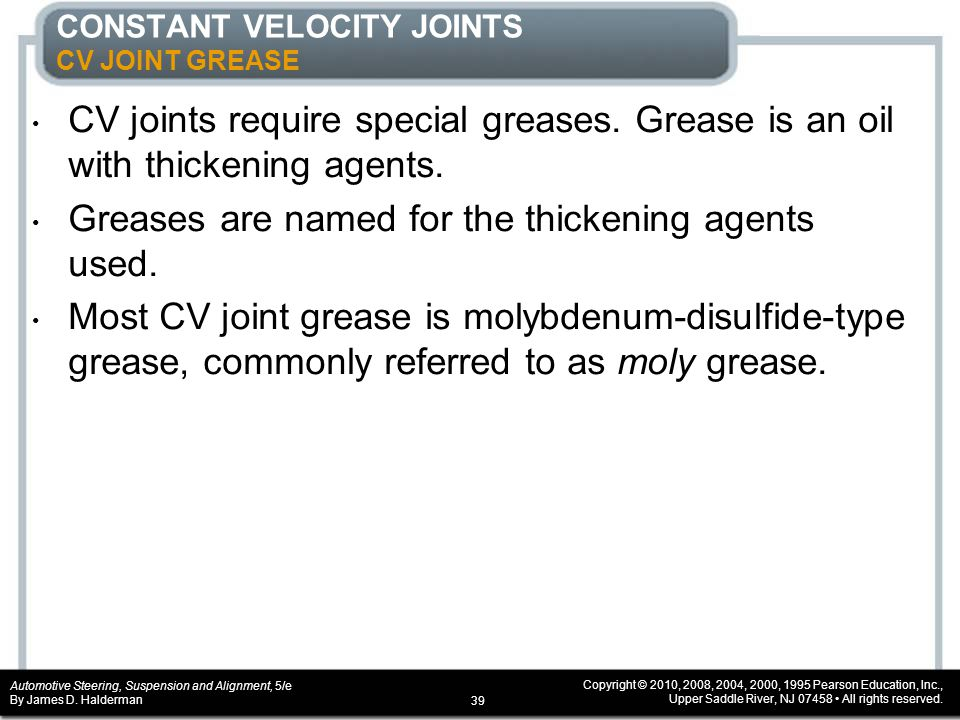 CONSTANT VELOCITY JOINTS CV JOINT GREASE