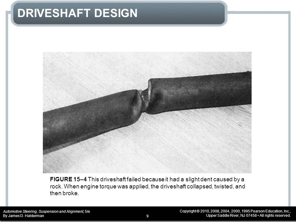 DRIVESHAFT DESIGN