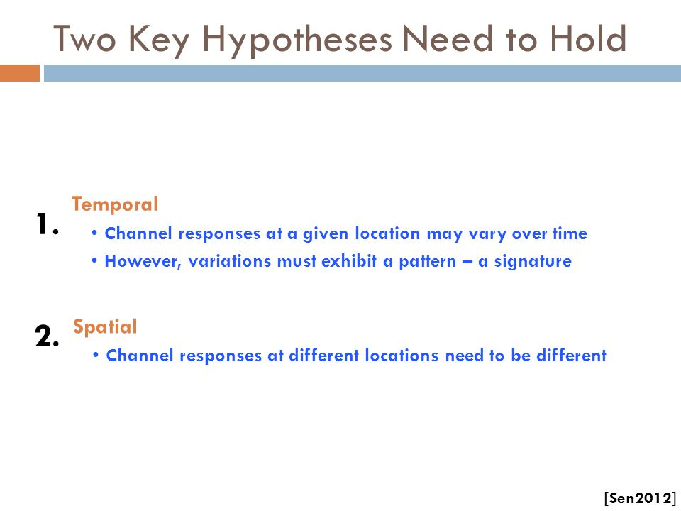 Two Key Hypotheses Need to Hold