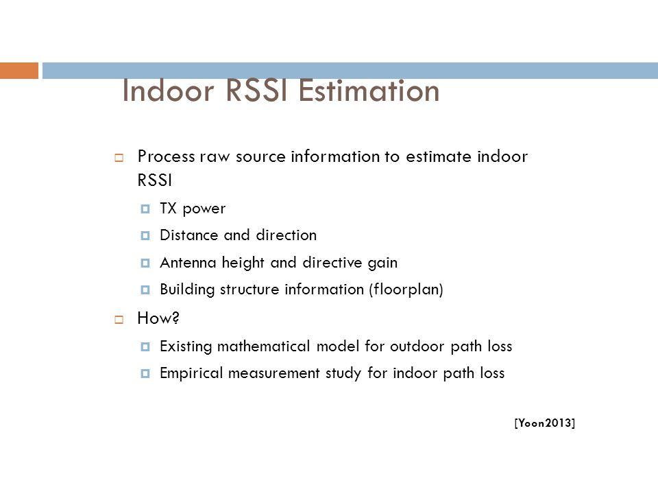 Indoor RSSI Estimation