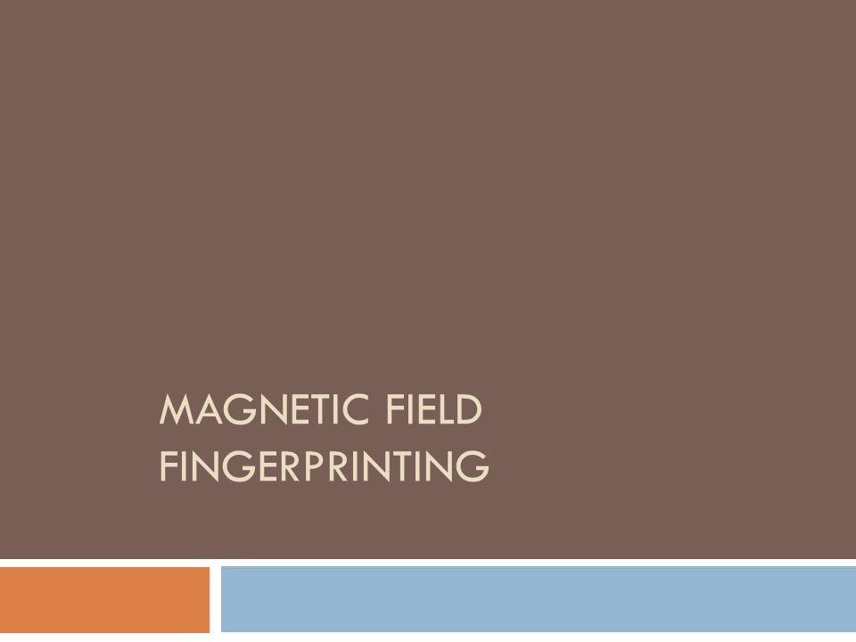 Magnetic field Fingerprinting