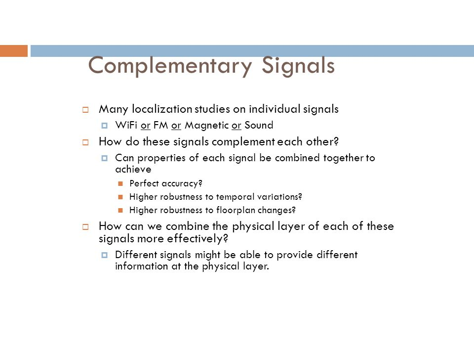 Complementary Signals