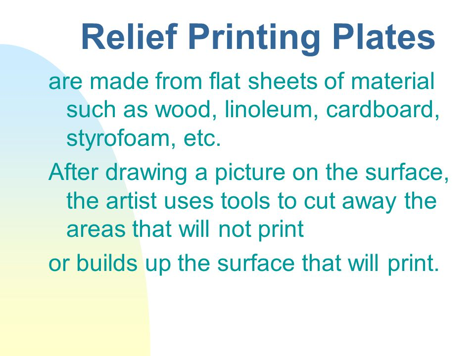 Relief Printing Plates