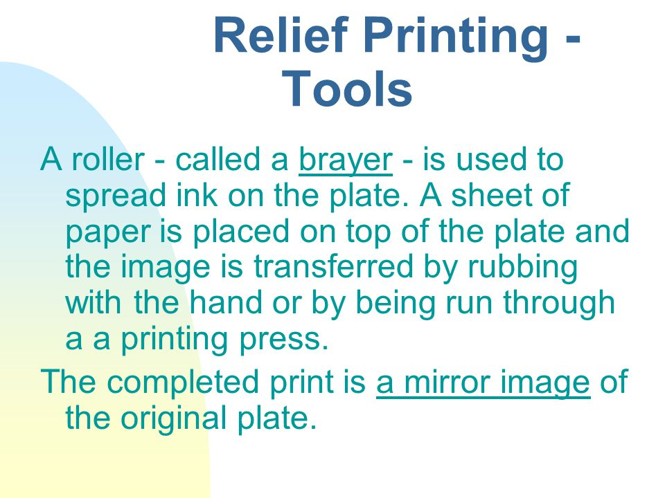 Relief Printing - Tools