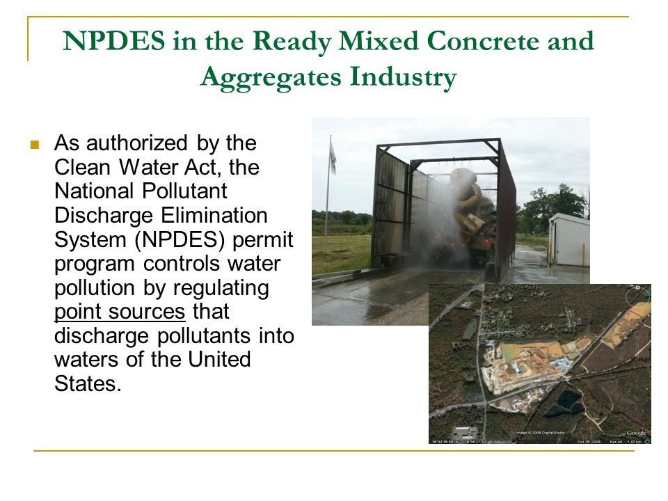 NPDES in the Ready Mixed Concrete and Aggregates Industry