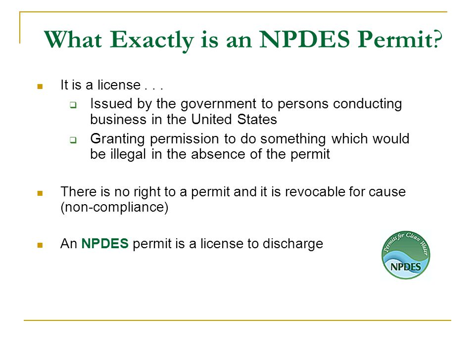 What Exactly is an NPDES Permit