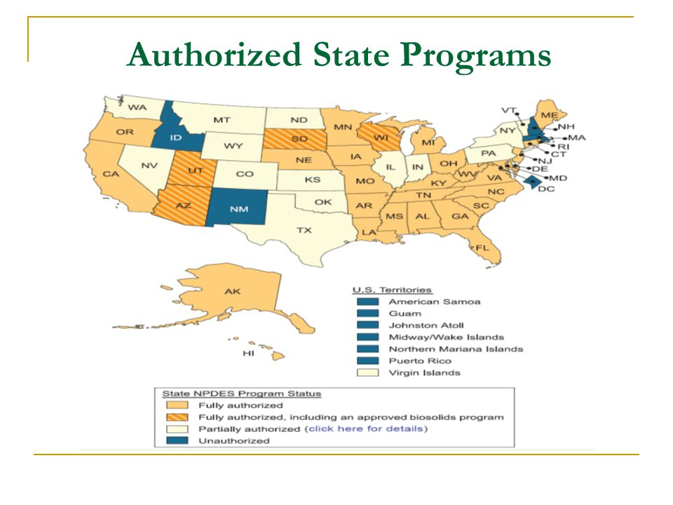 Authorized State Programs