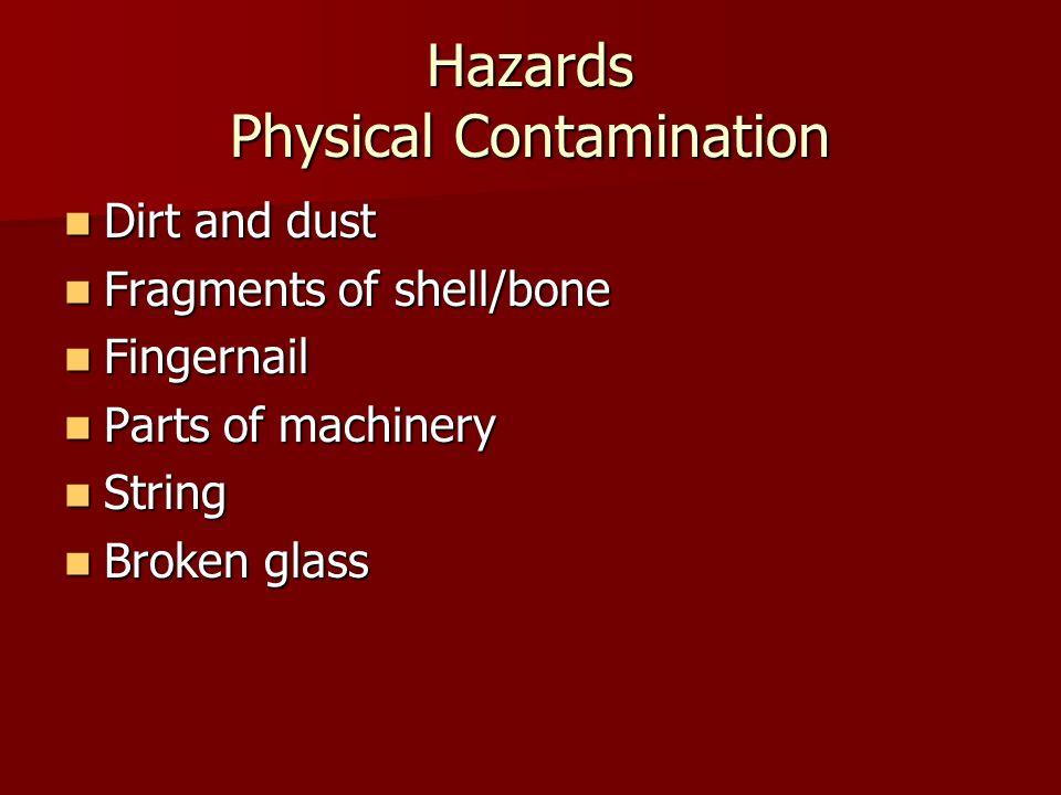 Hazards Physical Contamination