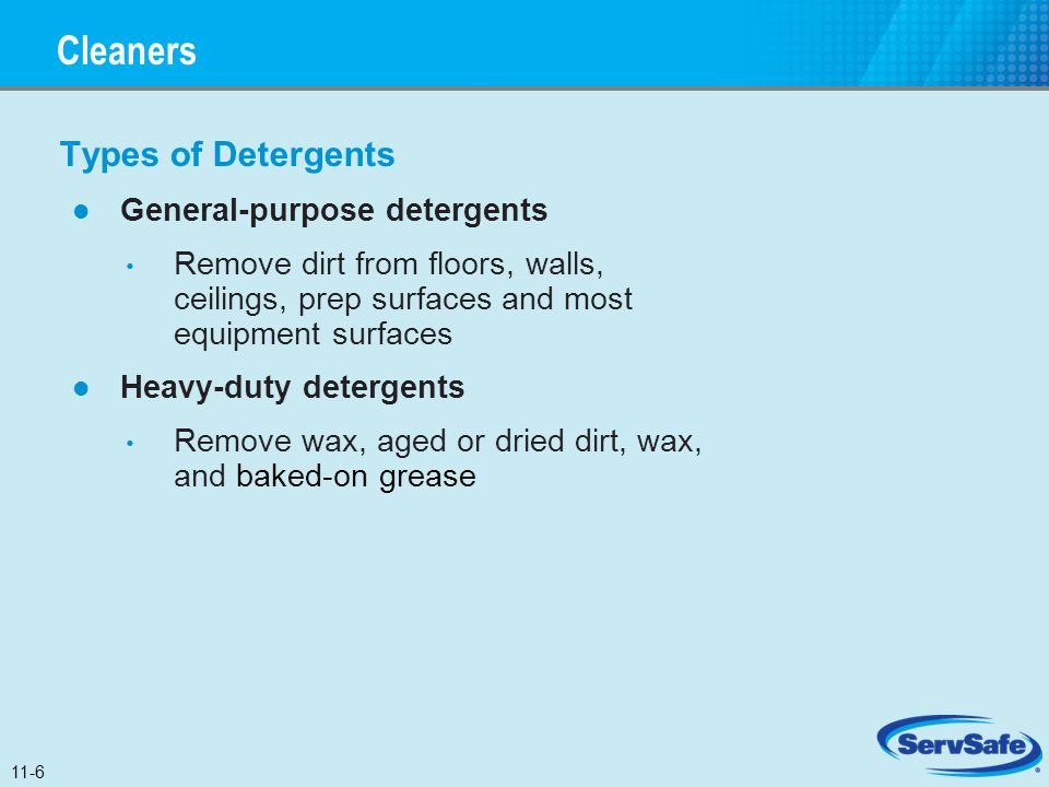 Cleaners Types of Detergents General-purpose detergents