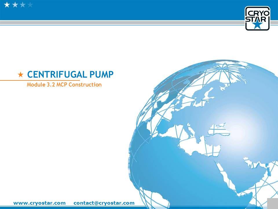 CENTRIFUGAL PUMP Module 3.2 MCP Construction