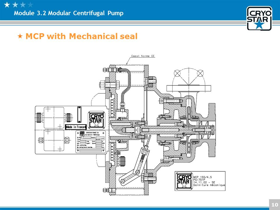MCP with Mechanical seal