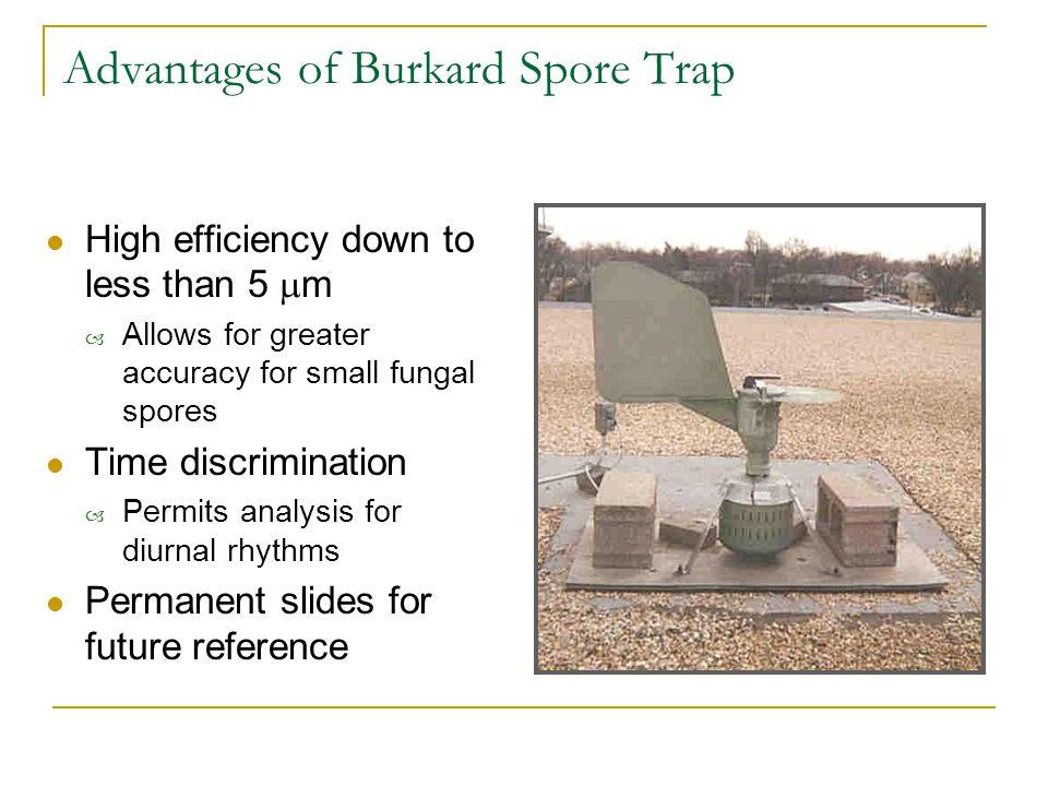 Advantages of Burkard Spore Trap