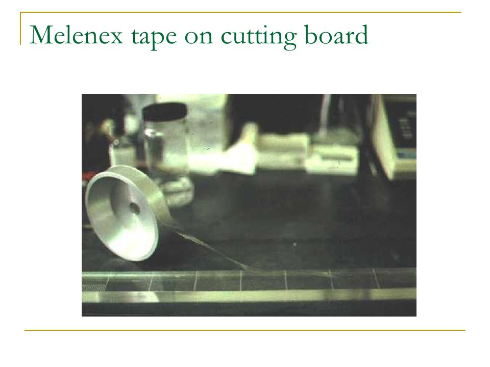 Melenex tape on cutting board