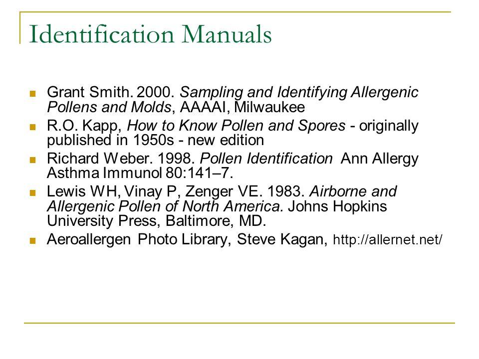Identification Manuals