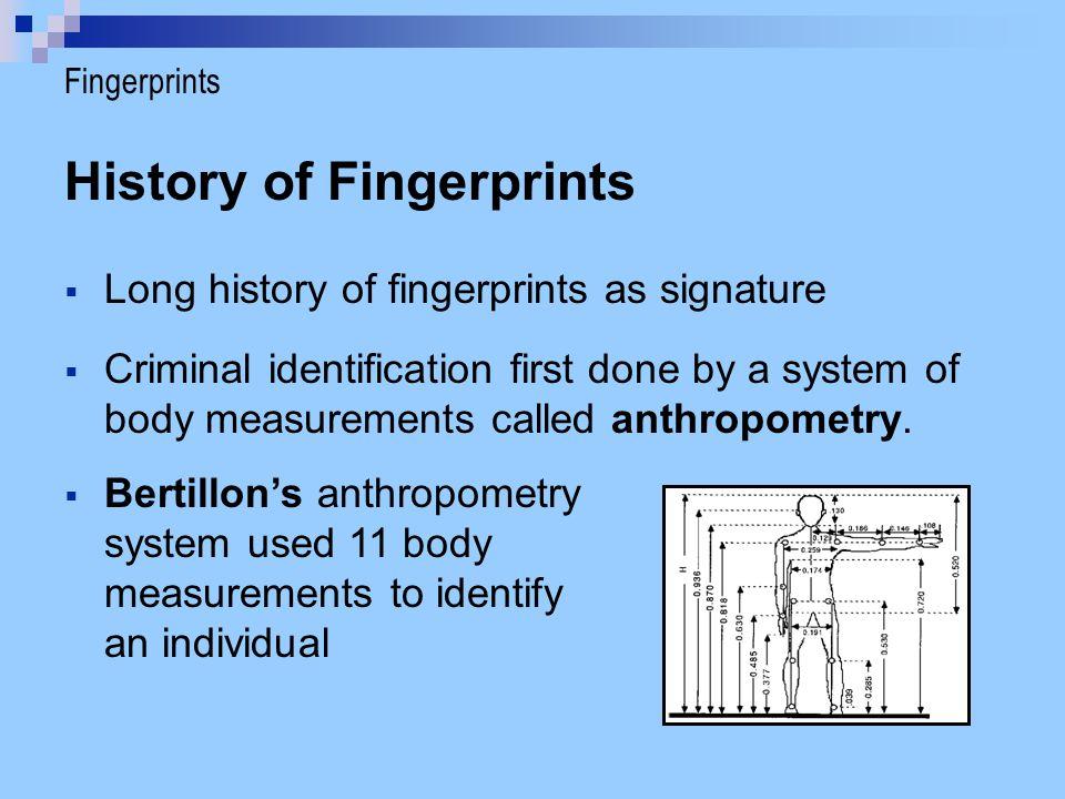 History of Fingerprints