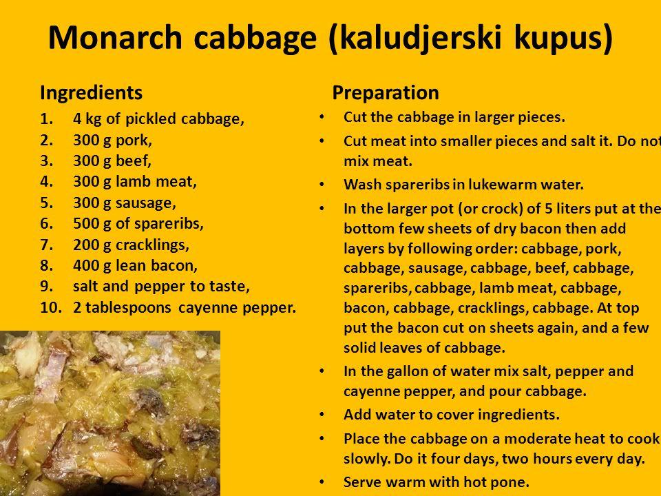 Monarch cabbage (kaludjerski kupus)