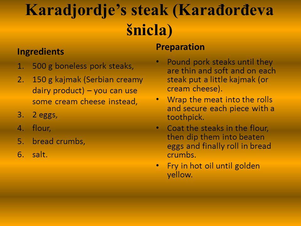 Karadjordje's steak (Karađorđeva šnicla)