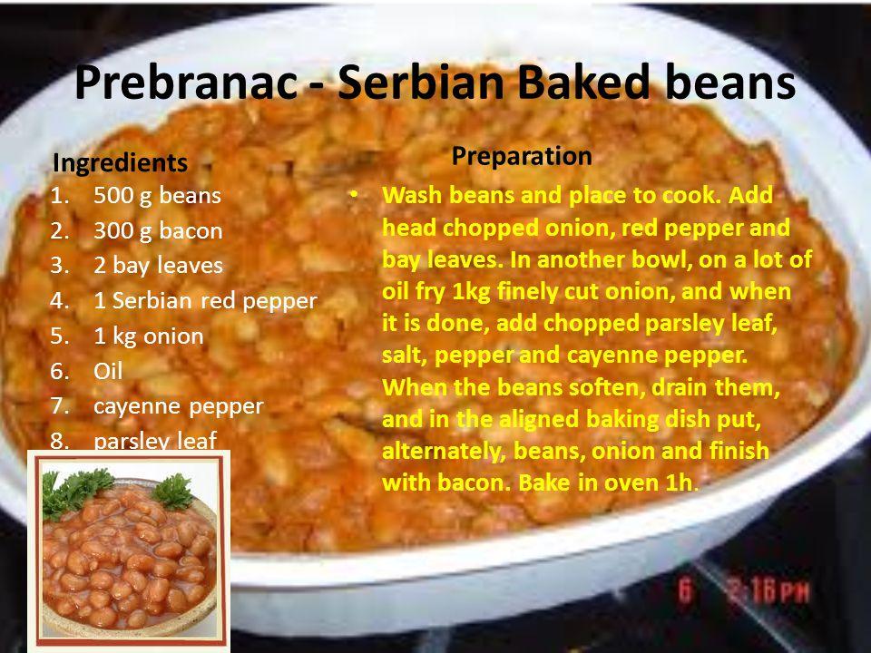 Prebranac - Serbian Baked beans