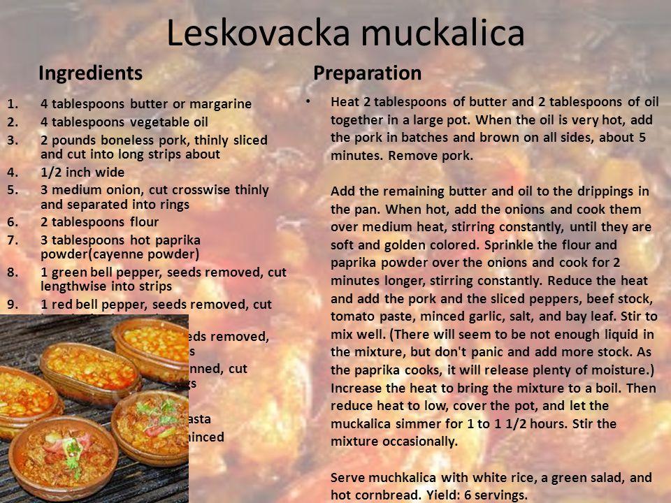 Leskovacka muckalica Ingredients Preparation