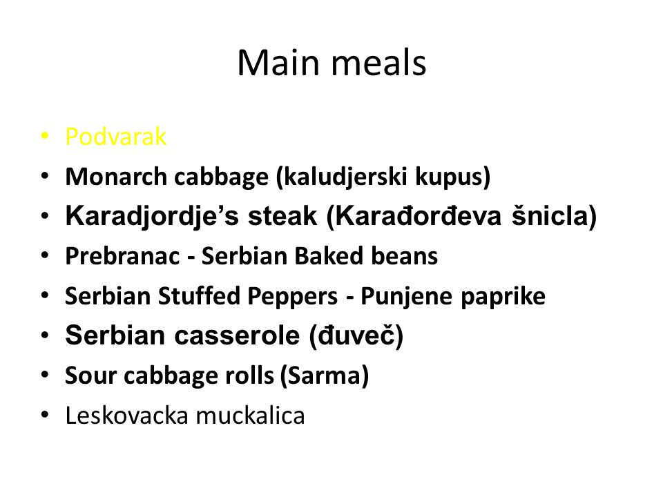 Main meals Podvarak Monarch cabbage (kaludjerski kupus)