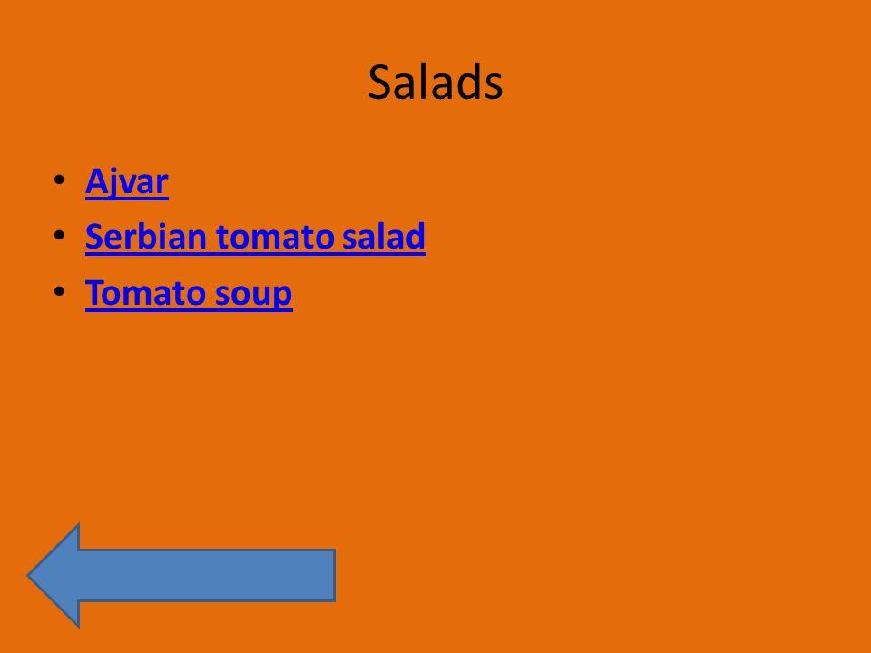 Salads Ajvar Serbian tomato salad Tomato soup