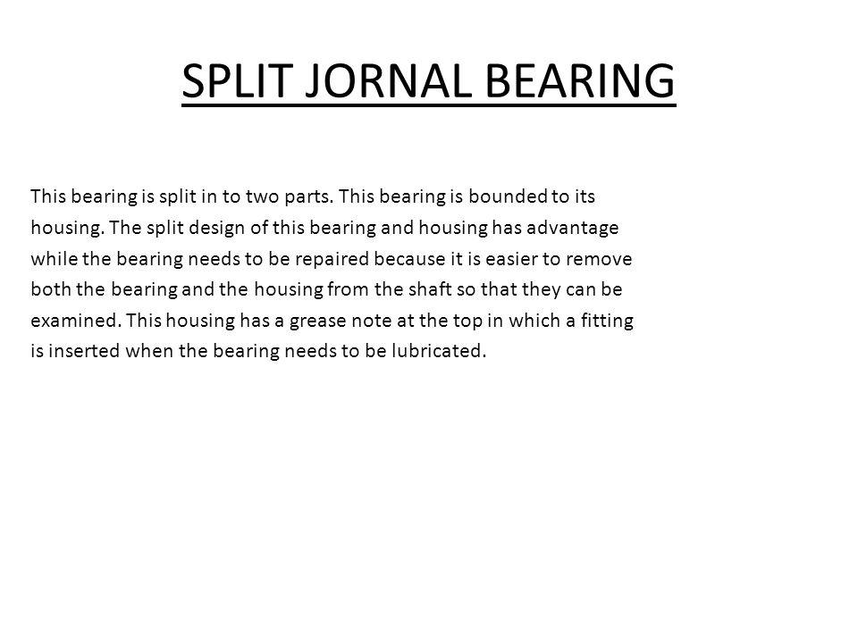 SPLIT JORNAL BEARING