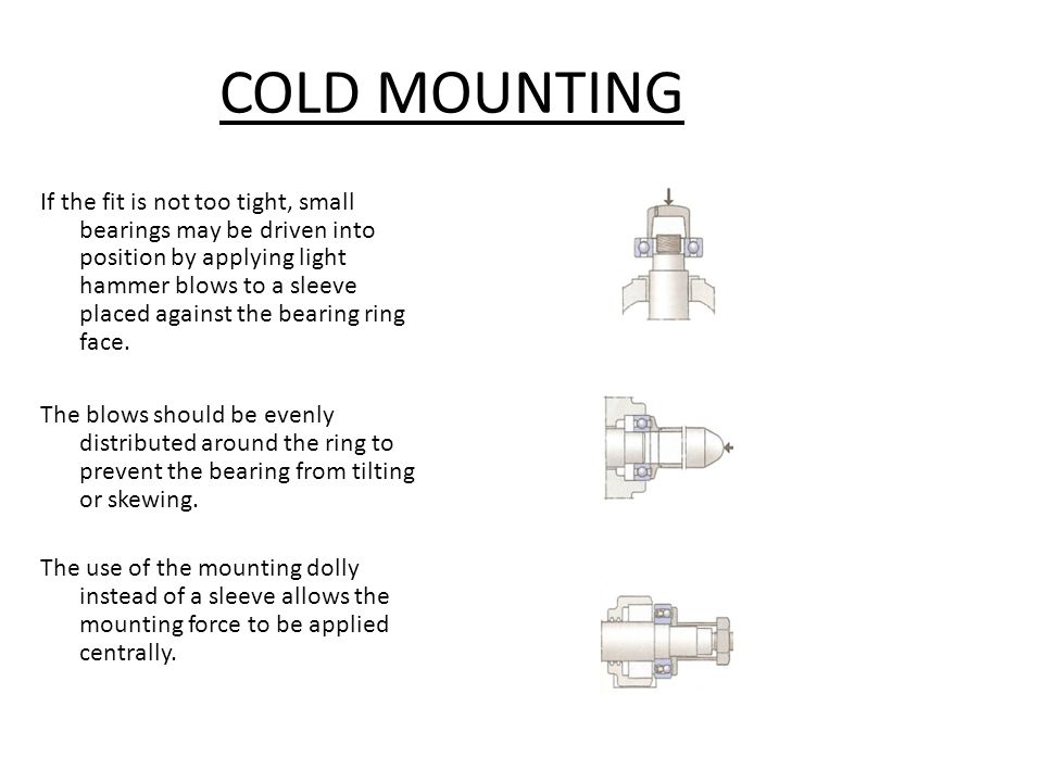COLD MOUNTING