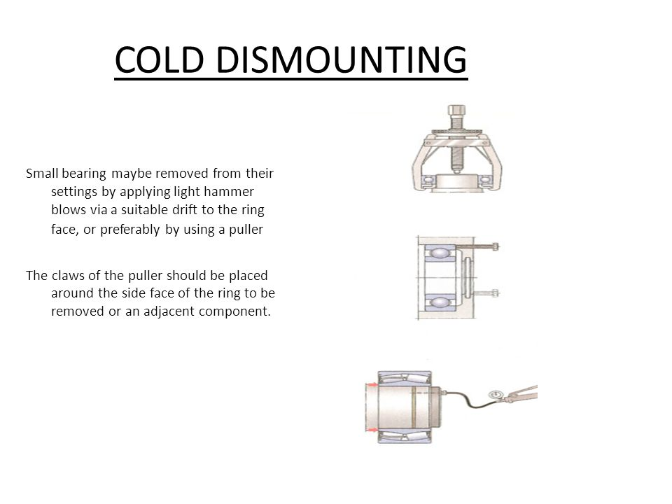 COLD DISMOUNTING
