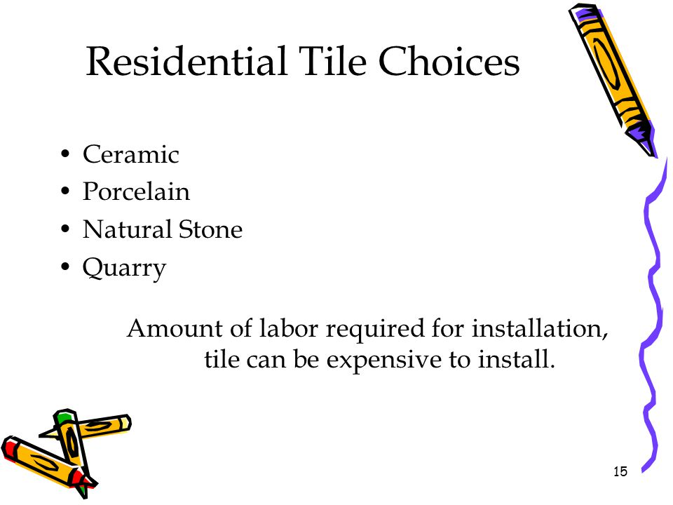 Residential Tile Choices