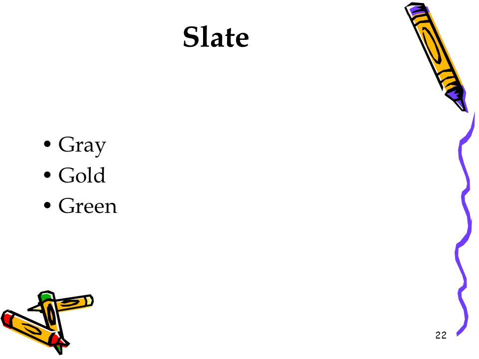 Slate Gray Gold Green