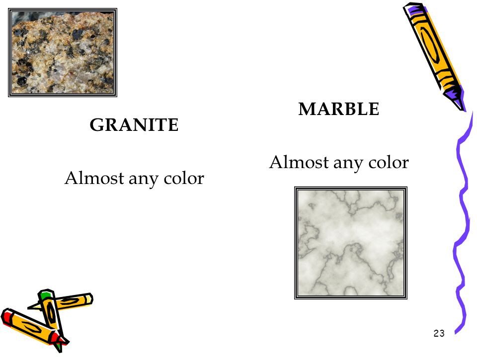 MARBLE Almost any color