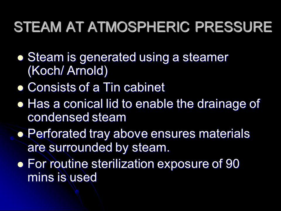 STEAM AT ATMOSPHERIC PRESSURE